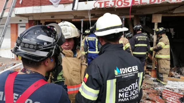 Alcaldía de Bogotá atiende explosión en el barrio La Estrada