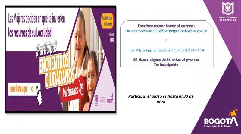 Casa de la Igualdad de Ciudad Bolívar invita a las mujeres a participar en los Encuentros Ciudadanos