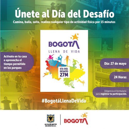 ¡ÚNETE AL DÍA DEL DESAFÍO BOGOTÁ LLENA DE VIDA!