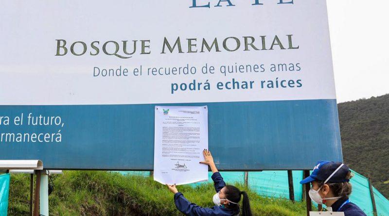 CAR impone medida preventiva en proyecto funerario que se adelanta en La Calera
