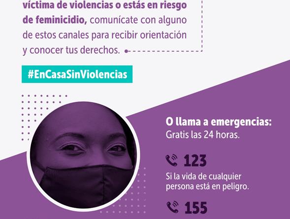 Durante cuarentenas locales, Secretaría de la Mujer atenderá a mujeres víctimas de violencias por canales no presenciales