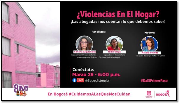 ¿Violencias en el hogar? Las abogadas de la @secredistmujer nos cuentan que debemos hacer. ¡Conéctate!