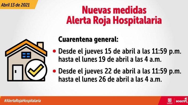 ABC de las nuevas medidas por la Alerta Roja Hospitalaria en Bogotá