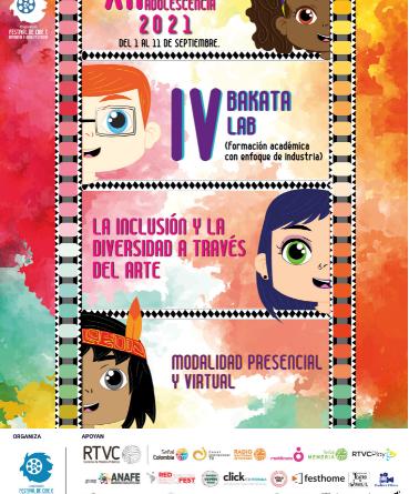 XII Festival de Cine: Infancia y Adolescencia  2021 Modalidad:  Virtual y Presencial